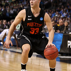Mar 17, 2011; Tampa, FL, USA; Princeton Tigers guard Dan Mavraides (33) during second half of the second round of the 2011 NCAA men's basketball tournament against the Kentucky Wildcats at the St. Pete Times Forum. Kentucky defeated Princeton 59-57.  Mandatory Credit: Derick E. Hingle
