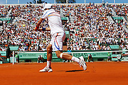 Roland Garros 2011. Paris, France. May 28th 2011..Serbian player Novak DJOKOVIC against Juan Martin DEL POTRO