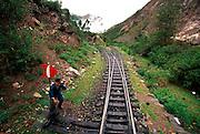 PERU, MACHU PICCHU, TRAIN one of the world's most famous train rides thru Inca Sacred Valley from Cuzco to Machu Picchu