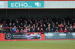 Cheltenham Town's fans - Photo mandatory by-line: Nizaam Jones - Mobile: 07966 386802 - 14/02/2015 - SPORT - Football - Cheltenham - Whaddon Road - Cheltenham Town v Bury - Sky Bet League Two