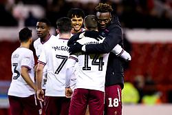 Tammy Abraham and Conor Hourihane of Aston Villa celebrate victory over Nottingham Forest - Mandatory by-line: Robbie Stephenson/JMP - 13/03/2019 - FOOTBALL - The City Ground - Nottingham, England - Nottingham Forest v Aston Villa - Sky Bet Championship