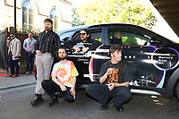 Fontaines D.C. pose with Hyundai car during the 2019 Hyundai Mercury Prize, Eventim Apollo, London, UK, Saturday 06 July 2019<br /> Photo JM Enternational