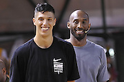 Kobe Bryant Simone Fontecchio - Clinic con Kobe Bryant e Ettore Messina, mamba mentality tour 2016, 22/07/2016, Milano. Foto Fip/Ciamillo