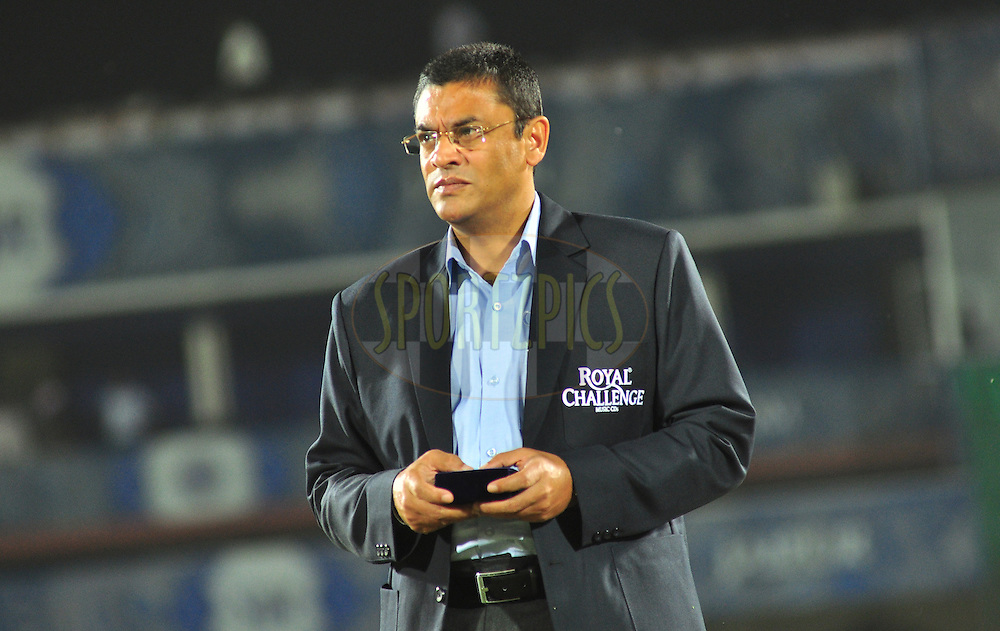 Roshan Mahanama Match referee during match 30 of the the Indian Premier League ( IPL) 2012  between The Rajasthan Royals and the Royal Challengers Bangalore held at the Sawai Mansingh Stadium in Jaipur on the 23rd April 2012..Photo by Arjun Panwar/IPL/SPORTZPICS