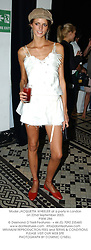 Model JACQUETTA WHEELER at a party for Burberry to launch the new Burberry Brit Fragrance at the In & Out Club, 94 Piccadilly, London on 22nd September 2003.