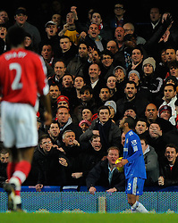 Arsenal fans give abuse to former player. Ashley Cole of Chelsea