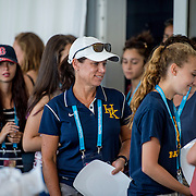 August 22, 2016, New Haven, Connecticut: <br /> Fans attend the Anthem Symposium during Day 4 of the 2016 Connecticut Open at the Yale University Tennis Center on Monday August  22, 2016 in New Haven, Connecticut. <br /> (Photo by Billie Weiss/Connecticut Open)