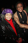 l to r: Sonia Sanchez and Camille Yearbough at The National Black Writers Conference Concert Presents Gil Scott Heron, Talib Kweli & Gary Bartz Produced by Jill Newman Productions and held at Littlefield on March 27, 2010 in Brooklyn, New York. Terrence Jennings/Retna, Ltd..**exclusive**