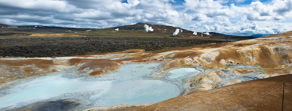 At Leirhnjúkur geothermal area which is in the north part of Iceland