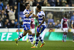 Goal, Yann Kermorgant of Reading scores the equaliser, Reading 1-1 Aston Villa - Mandatory by-line: Jason Brown/JMP - 18/10/2016 - FOOTBALL - Madejski Stadium - Reading, England - Reading v Aston Villa - Sky Bet Championship