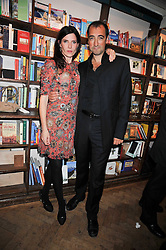 ALISTAIR McGOWAN and RONNI ANCONA at a party to celebrate the publication of 'A Matter of Life and Death' by Ronni Ancona and Alistair McGowan held at Daunt Books, 83 Marylebone High Street, London on 8th October 2009.