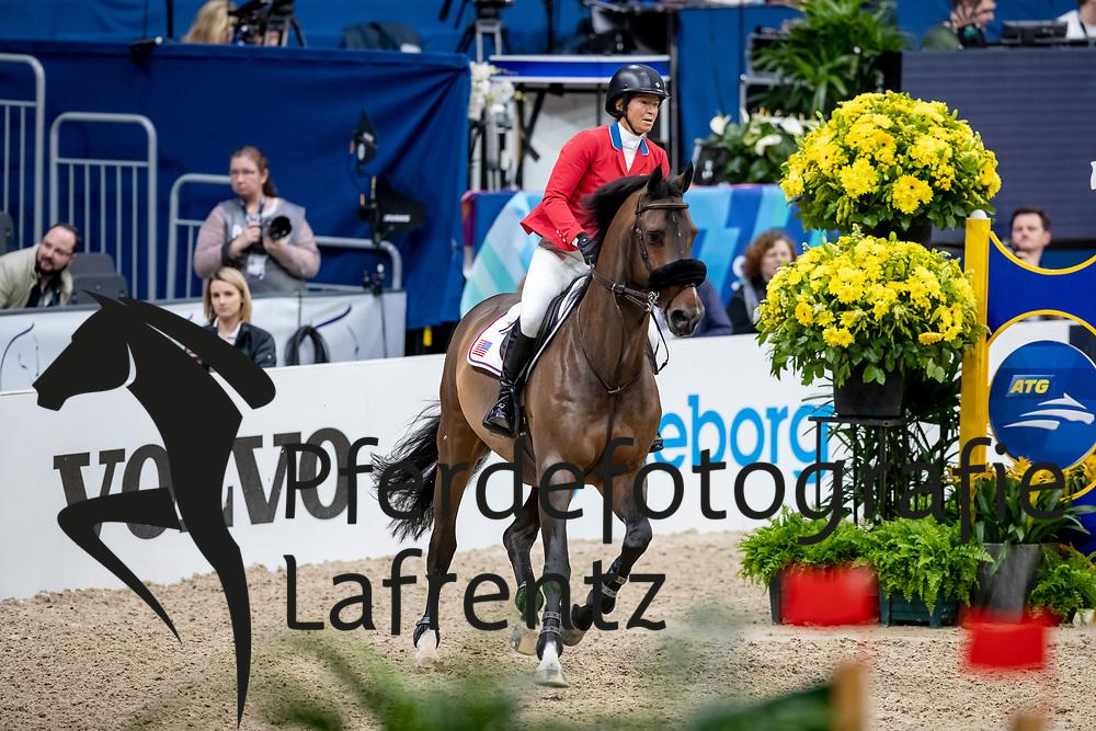MADDEN Elizabeth (USA), Breitling LS <br /> Göteborg - Gothenburg Horse Show 2019 <br /> Longines FEI World Cup™ Final II<br /> Int. jumping competition with jump-off (1.50 - 1.60 m)<br /> Longines FEI Jumping World Cup™ Final and FEI Dressage World Cup™ Final<br /> 05. April 2019<br /> © www.sportfotos-lafrentz.de/Stefan Lafrentz