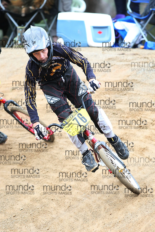 (Canberra, Australia---03 March 2012) \w76\ at the Melba BMX Track in Canberra, Australia. Photograph 2012 Copyright Sean Burges / Mundo Sport Images. For reproduction rights and information in Australia, contact seanburges@yahoo.com. For information elsewhere contact info@mundosportimages.com.