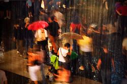 Barcelona, Catalunya, Spain.<br /> Rain in the street.&copy;Carmen Secanella