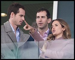 March 13, 2019 - Cheltenham, United Kingdom - Image licensed to i-Images Picture Agency. 13/03/2019. Cheltenham , United Kingdom. Tennis player Andy Murray  and his wife Kim Sears watching the racing during Ladies Day on the second day of the Cheltenham Festival  (Credit Image: © Stephen Lock/i-Images via ZUMA Press)