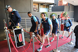 28-07-18 Emirates Airline Park, Johannesburg. Super Rugby semi-final Emirates Lions vs NSW Waratahs. The Waratahs team arrive before the start of the semi-final. Picture: Karen Sandison/African News Agency (ANA)