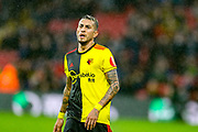 Watford midfielder Roberto Pereyra (37) at full time during the Premier League match between Watford and Bournemouth at Vicarage Road, Watford, England on 26 October 2019.