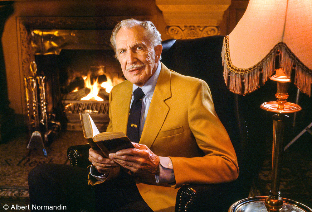 Vincent Price on Century 21 TV Commercial, Vancouver, British Columbia, Canada