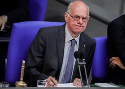 September 6, 2016 - Berlin, Berlin, Germany - Bundestag President Norbert Lammert follows the discussion in the German Bundestag in Berlin,Germany, 06 September 2016. The German Bundestag is attending to the discussion on the budget proposal for 2017. Photo:MICHAELKAPPELER/dpa (Credit Image: © Michael Kappeler/DPA via ZUMA Press)