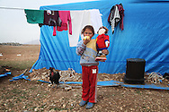 ARBAT, IRAQ: Aysha Ahmad, 6, from Derzor, Syria, is pictured in a refugee camp in Arbat, Iraq. ..The semi-autonomous region of Iraqi Kurdistan has accepted refugees from the conflict in Syria into several camps. Arbat lies near Sulaimaniyah in northeastern Iraq, approximately 500 kilometres from the Syrian border...Photo by Besaran Tofiq/Metrography