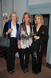 Left to right, PRU COOPER, LADY DE RAMSEY and CAROLINE SMITH at a evening with fashion label Lilah held at Quo Vadis, 26-29 Dean Street, London W1 on 29th May 2013.