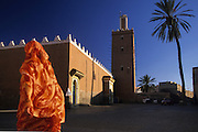 Tiznit, the Great mosque. The arquitecture with stakes from the wall reminds the mosques of Mali, south of Sahara.