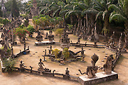 Near Vientiane, Laos. Buddha Park sculpture garden full of HIndu and Buddhist statues made of concrete by Puang Pu, a shamanist priest in the 1950's.
