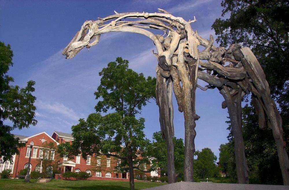 16567Horse Sculpture in Back of the Ridges Auditorium
