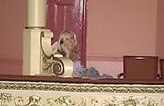 Meg Matthews. Frost French, Duke of York's theatre. St, Martin's Lane. 17/2/02© Copyright Photograph by Dafydd Jones 66 Stockwell Park Rd. London SW9 0DA Tel 020 7733 0108 www.dafjones.com
