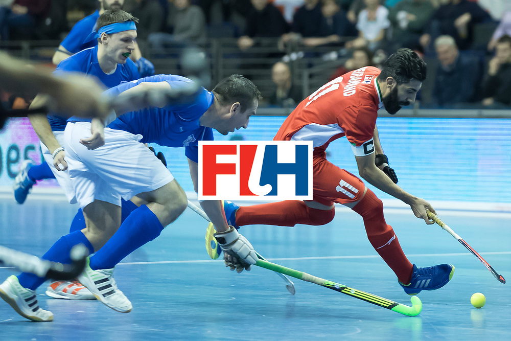 Hockey, Seizoen 2017-2018, 09-02-2018, Berlijn,  Max-Schmelling Halle, WK Zaalhockey 2018 MEN, Iran - Czech Republic 2-2 Iran Wins after shoutouts,