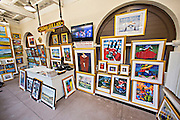 Gullah Art Gallery at the Historic Charleston City Market on Market Street in Charleston, SC.