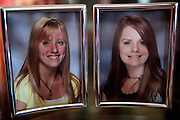 A photograph of the sisters, Kayla, left, Kara, right, taken before Kayla's accident sits on a table in the Marler family living room. In high school, Kayla was a popular with a goofy personality. Since her accident Kayla has short-term memory loss, trouble with processing, limited vision, tremors and poor balance.