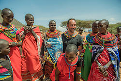 """Dave Matthews (@davematthewsband) shares a joke and is warmly welcomed by Samburu women during his recent visit. The name Samburu, which literally translates to mean """"butterflies,"""" was given to the Samburu tribe by other tribes because of their layers and layers of gorgeous jewelry, face painting, and colorful clothing.<br /> <br /> The Samburu people are the force behind northern Kenya's Reteti Elephant Sanctuary (@r.e.s.c.u.e), the first ever community-owned and run elephant sanctuary in Africa. The sanctuary provides a safe place for injured elephants to heal and later, be returned back to the wild. You can support this incredible place and the people who protect wildlife. Make a $10 contribution in support of Reteti for a chance to win a trip to Kenya, see Dave Matthews in concert and take home Dave's guitar with @prizeo (Link in profile). Not only will you be helping care for orphaned baby elephants and strengthening community ties, you'll also have a chance to win a life-changing trip to see the sanctuary in person. The first $10,000 in funds raised will be generously matched by Elephant Gems (@elephantgems).<br /> <br /> Reteti operates in partnership with Conservation International (@conservationorg) who provide critical operational support and work to scale the Reteti community-centered model to create lasting impacts worldwide. <br /> <br /> Photo by @amivitale."""