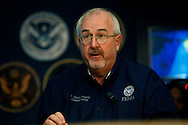 Craig Fugate, Administrator FEMA makes a statement after a briefing on Hurricane Sandy at FEMA Headquarters in Washington, DC on October 28, 2012. Dennis Brack...