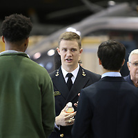 Libby Ezell | BUY AT PHOTOS.DJOURNAL.COM<br /> Midshipman First Class Lucion Duchaine tells potential students all about the U.S. Naval Academy at Saturday's Military Service Academy Day