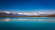 The Mount Cook and Southern Alps from the Tekapo Canal, Lake Tekapo, Canterbury, South Island, New Zealand