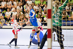 Ines Amon of Slovenia during handball match between Women national teams of Slovenia and Denmark in Round #5 of Qualifications for Women's EHF EURO 2018 Championship in France, on May 30, 2018 in Sports hall Golovec, Celje, Slovenia. Photo by Urban Urbanc / Sportida