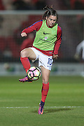 Karen Carney (England) warming up before the International Friendly match between England Women and France Women at the Keepmoat Stadium, Doncaster, England on 21 October 2016. Photo by Mark P Doherty.