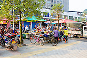 China, Xian, outdoor street market