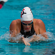 16 November 2017: The San Diego State women's swim team competes in the 2017 A3 Performance Invitational held at the SDSU Aquaplex. SDSU sophomore Morganne McKennan competes in the 200 yard IM.<br /> www.sdsuaztecphotos.com