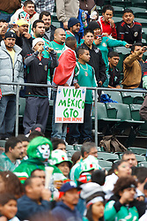 March 26, 2011; Oakland, CA, USA;  Fans supporting Mexico cheer in the stands before the game against Paraguay at Oakland-Alameda County Coliseum.