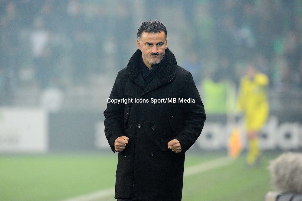 Christophe GALTIER - 05.12.2014 - Saint Etienne / Bastia - 17eme journee de Ligue 1 -<br />
