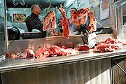 Israel, Tel Aviv, Carmel Market a butcher