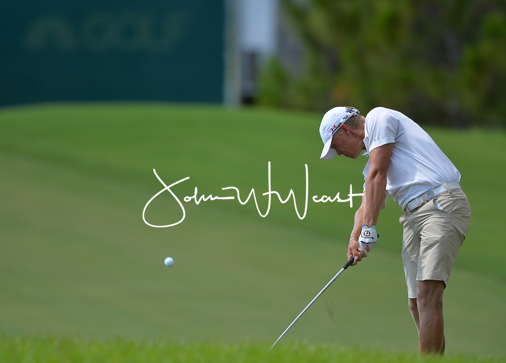 Hannes Roenneblad during the first round of the NCAA Golf Championships at the Concession Golf Club in Bradenton, FL.