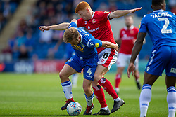 Tom Lapslie of Colchester United holds off Rory Gaffney of Walsall - Mandatory by-line: Phil Chaplin/JMP - 07/09/2019 - FOOTBALL - JobServe Community Stadium - Colchester, England - Colchester United v Walsall - Sky Bet League Two