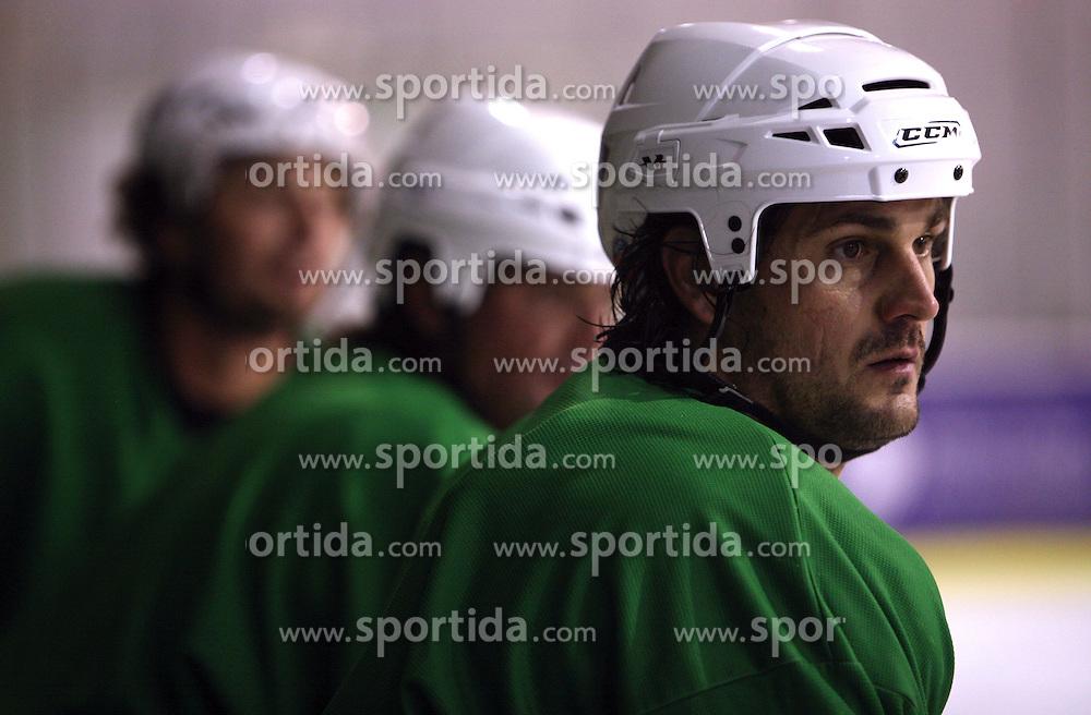 Frank Banham of Canada at second ice hockey practice of HDD Tilia Olimpija on ice in the new season 2008/2009, on August 19, 2008 in Hala Tivoli, Ljubljana, Slovenia. (Photo by Vid Ponikvar / Sportal Images)