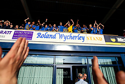 Shrewsbury Town celebrate winning the playoff semi-final against Charlton Athletic - Mandatory by-line: Robbie Stephenson/JMP - 13/05/2018 - FOOTBALL - Montgomery Waters Meadow - Shrewsbury, England - Shrewsbury Town v Charlton Athletic - Sky Bet League One Play-Off Semi Final