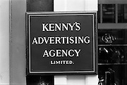 25/07/1962<br /> 07/25/1962<br /> 25 July 1962<br /> Kenny's Advertising Agency Ltd., sign at offices, Abbey Street, Dublin.