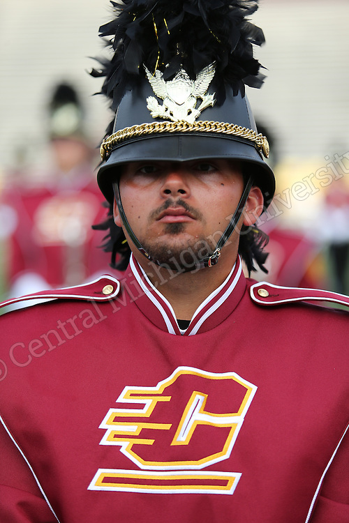 2014 Chippewa Marching Band with new uniforms. Photo by Steve Jessmore/Central Michigan University