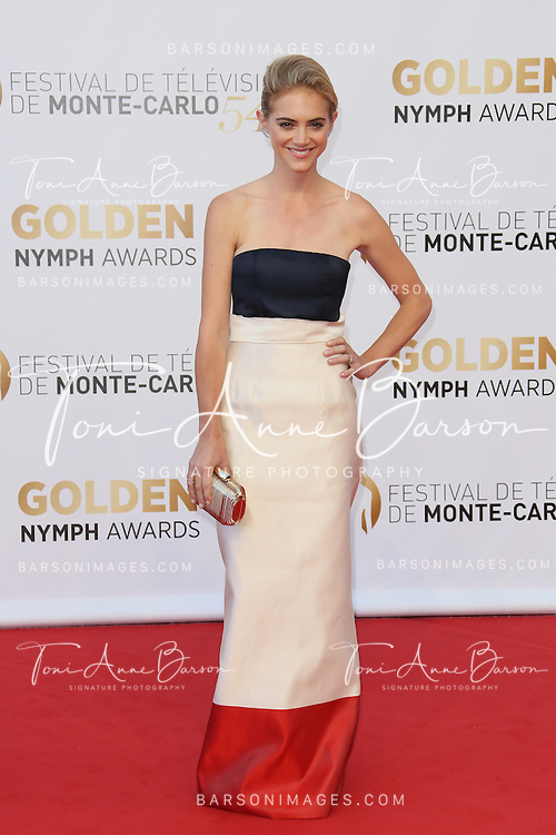 MONTE-CARLO, MONACO - JUNE 11:  Emily Wickersham attends the Closing Ceremony and Golden Nymph Awards of the 54th Monte Carlo TV Festival on June 11, 2014 in Monte-Carlo, Monaco.  (Photo by Tony Barson/FilmMagic)